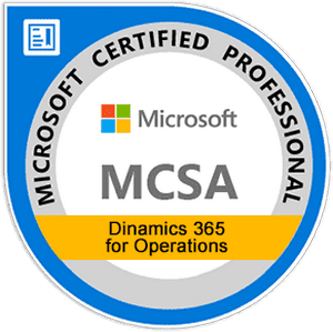 MCSA: Dynamics 365 for Operations