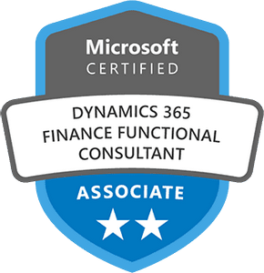 Microsoft Certified: Dynamics 365 Finance Functional Consultant Associate